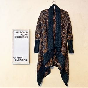 Brown & Grey Marbled Knit Cardigan | Willow & Clay